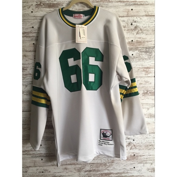 in stock cb330 57082 Ray Nitschke Mitchell & Ness Packer Jersey NWT